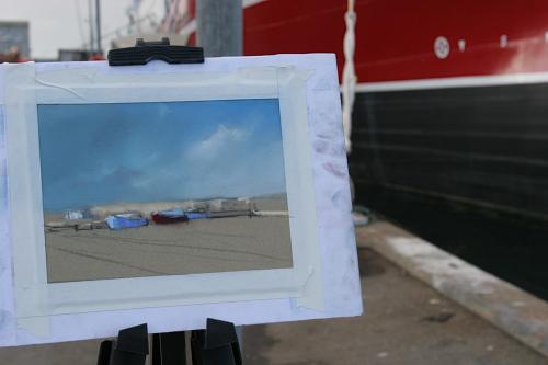 Plein Air Malen in Skagens Hafen