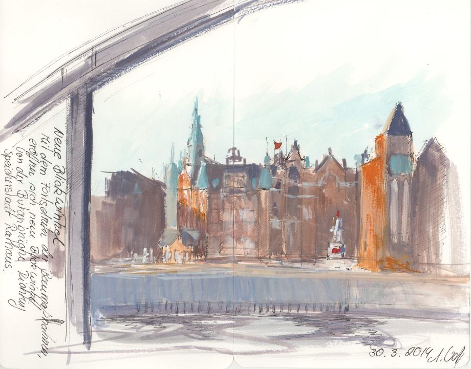 Speichstadtrathaus Skizze