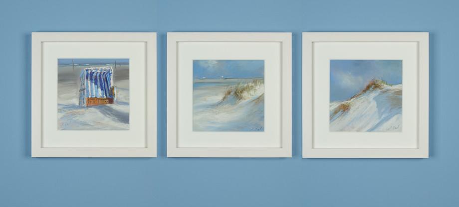 Pastellbilder an der Wand (ocean)