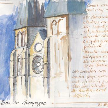 Skizze: Notre Dame en Vaux