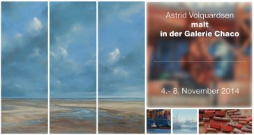 I paint »live« at the gallery