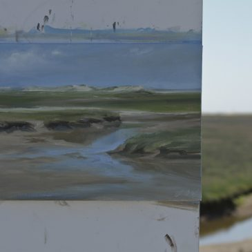 Plein Air in St. Peter-Ording: Watercourse