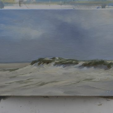 Plein Air in St. Peter-Ording: Before the rain