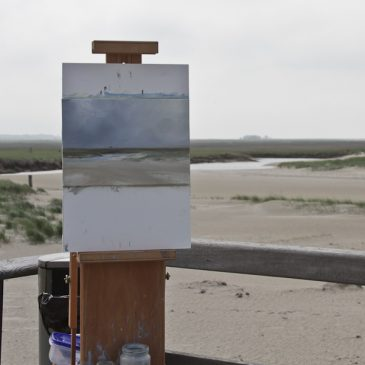 Plein Air at St. Peter Ording: Misty Morning