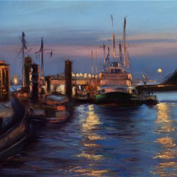 Museums Harbor Oevelgönne: Evening Lights
