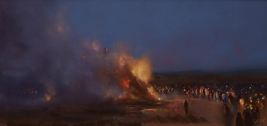 Astrid Volquardsen - Tjen di Biiki ön (II) - Pastell