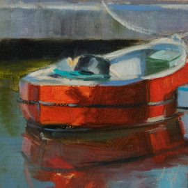 Red boat (Oil)