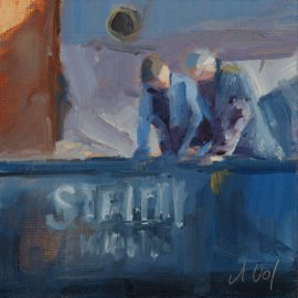Workmen of the Stettin (Oil)