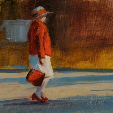 The red Handbag