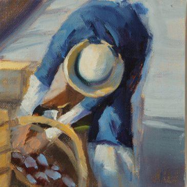 Market Woman: Oil on canvas (Studio)