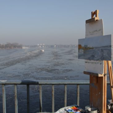 Plein Air: View across the Alster in winter
