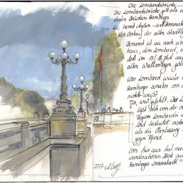 Skizze: Lombardsbrücke
