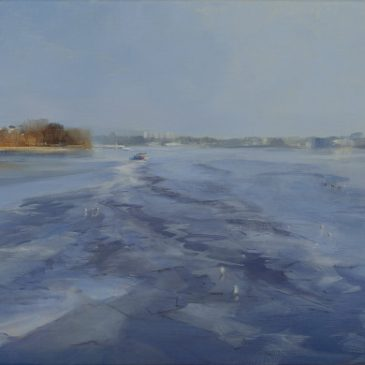 Icing ( on the Alster) Oil on linen