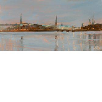 Astrid Volquardsen - Wintermorgen - Öl auf Hartfaser