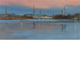 Astrid Volquardsen - Wintertraining - Öl auf Hartfaser