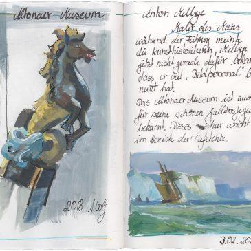 Skizze: Ausstellung Melbye im Altonaer Museum