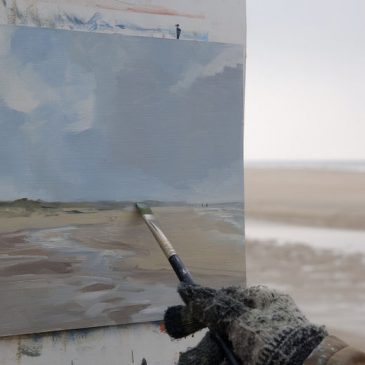 Plein Air: At the beach of Rantum