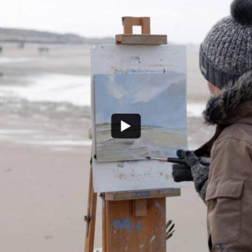 Plein Air Video: At the beach of Rantum