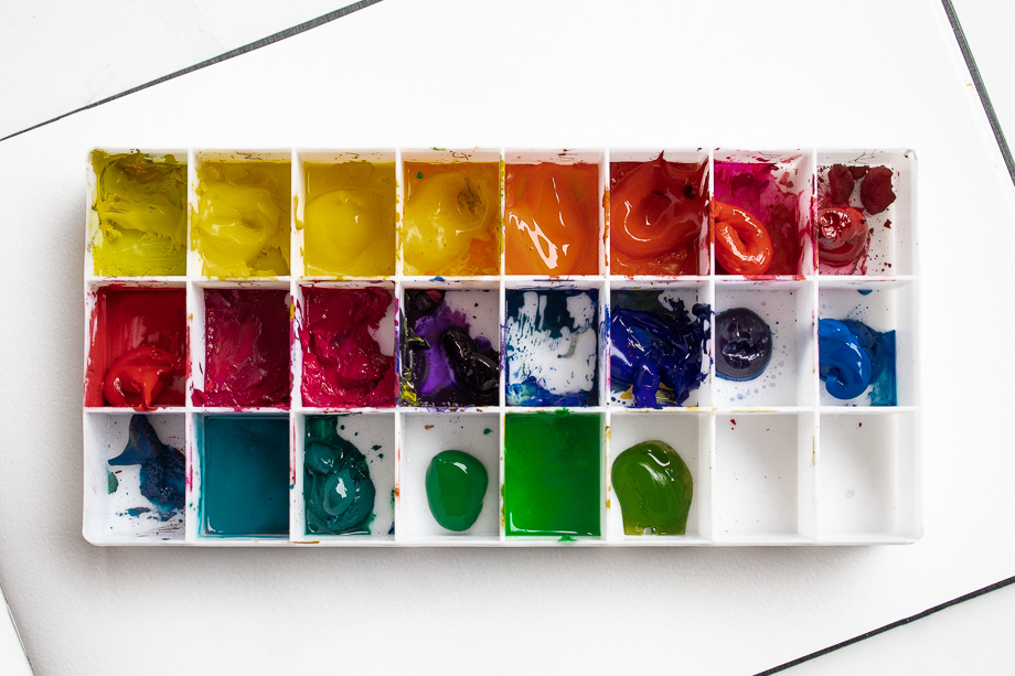 Gouache Farben